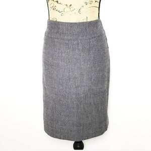 Carlisle Black White Tweed Pencil Skirt